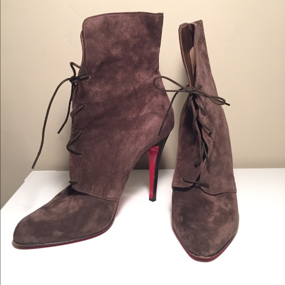 "492377aa3b0 Christian Louboutin ""Madison"" suede bootie 40.5"